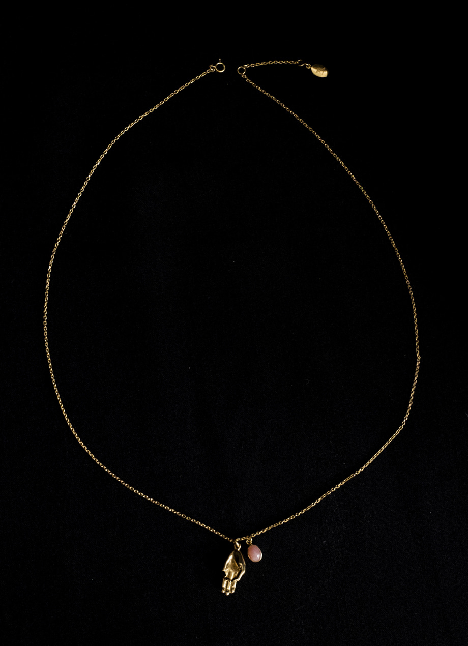 BUDHI MUDRA necklace + Pink opal