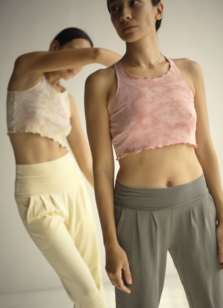 [Limited] Natural tiedye Navel tank top - SOLDOUT