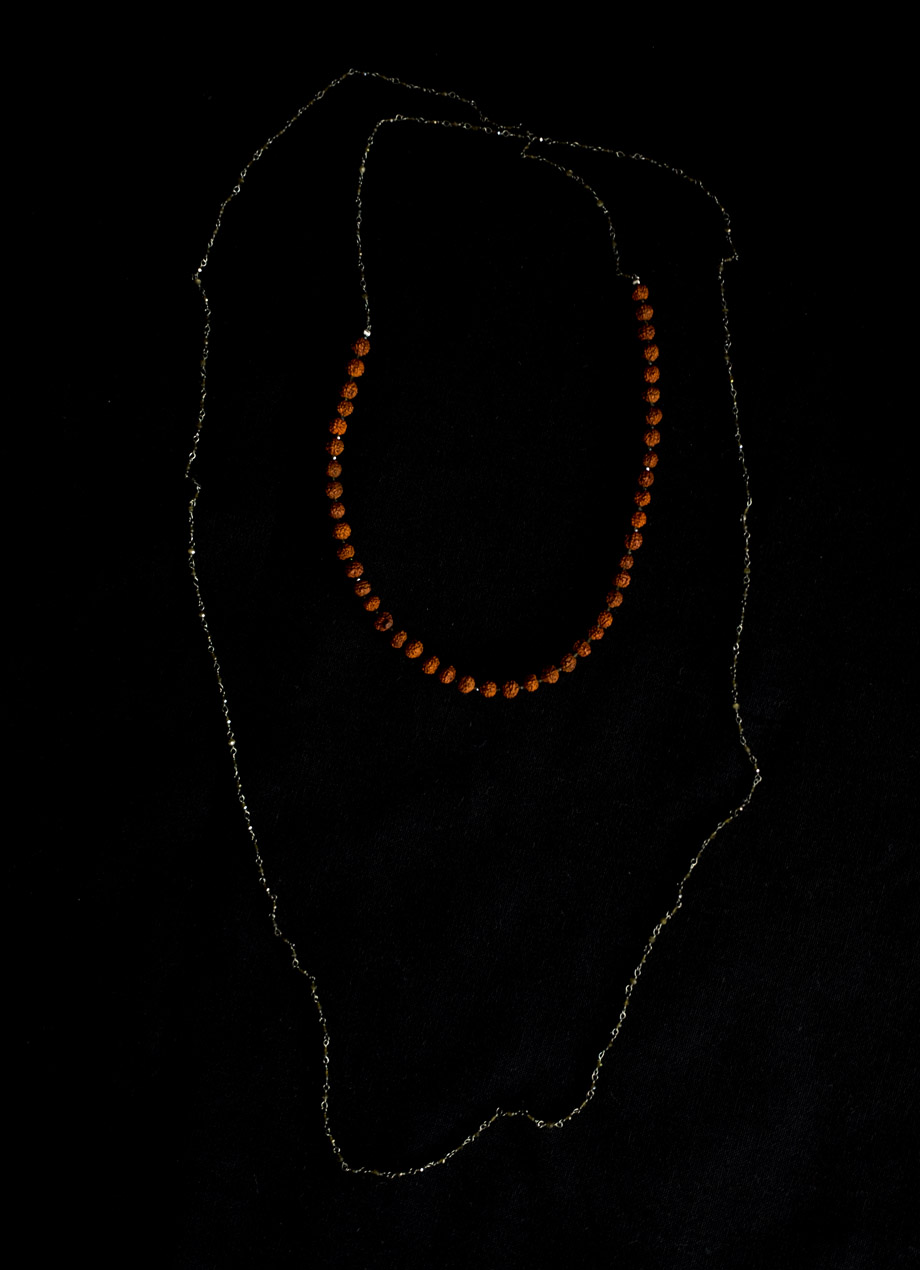 Exclusive stone necklace - Rudraksha