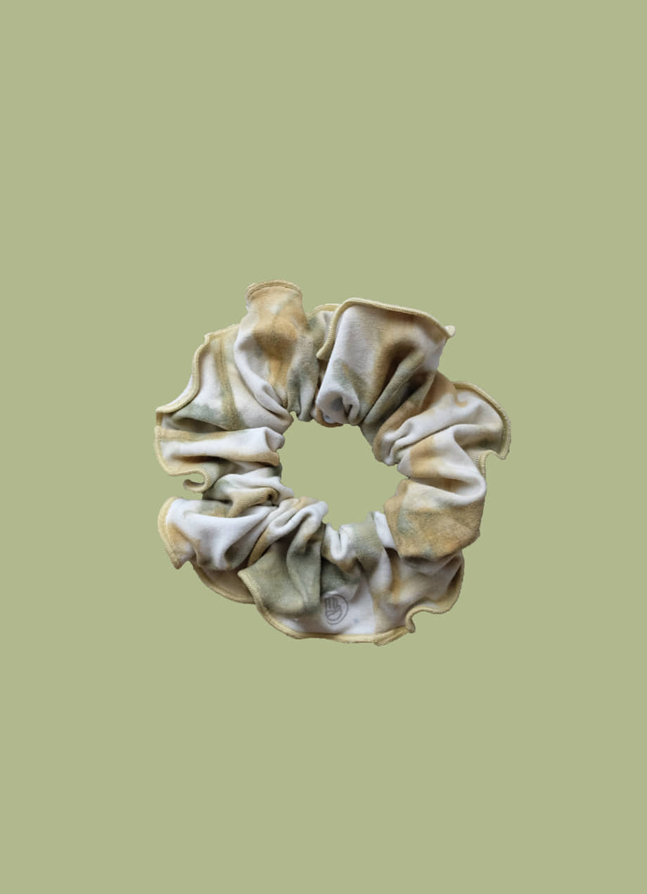 Natural tiedye BUDHI MUDRA scrunchie