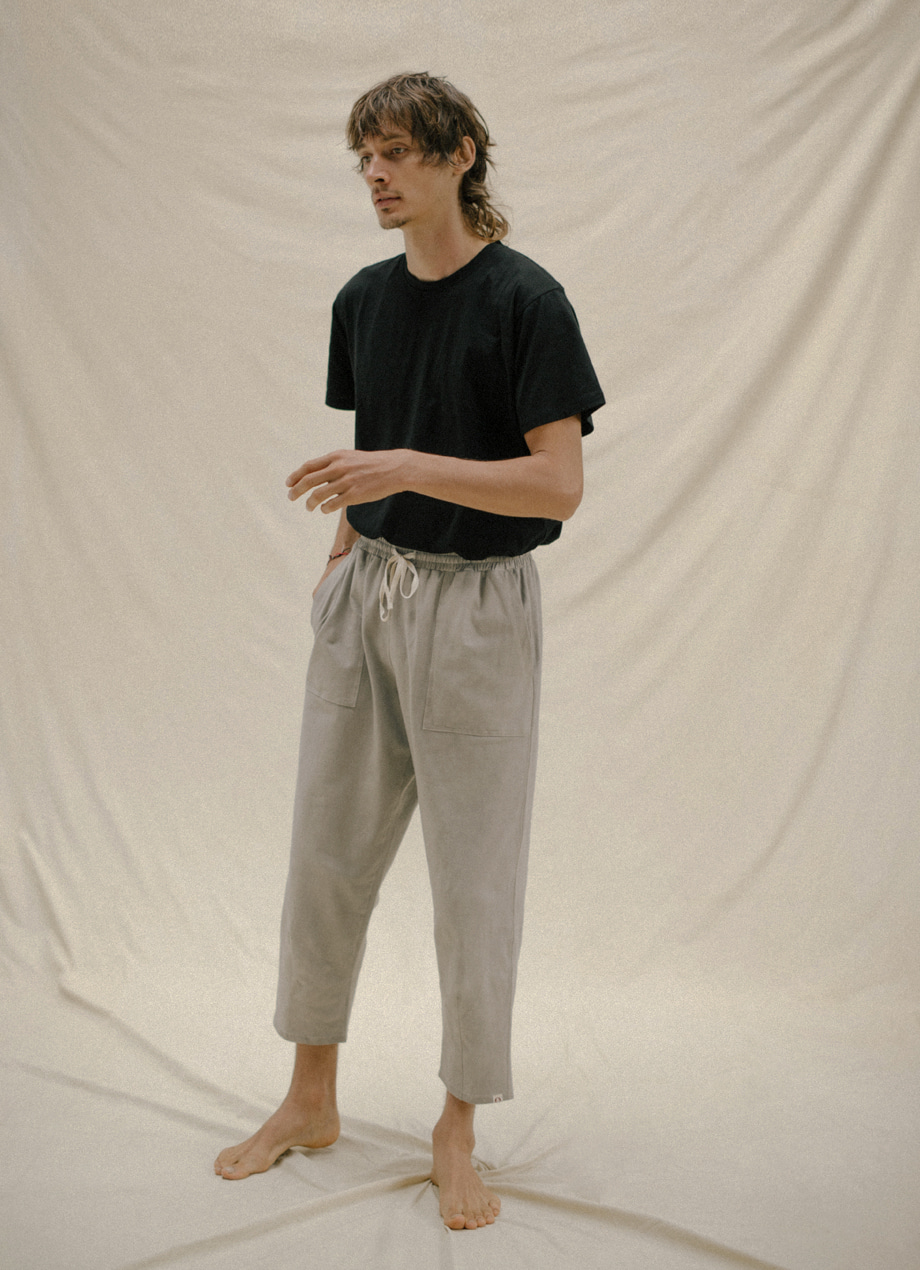 Natural plant-dye organic tapered pants - Unisex ( 5월초 RESTOCK )