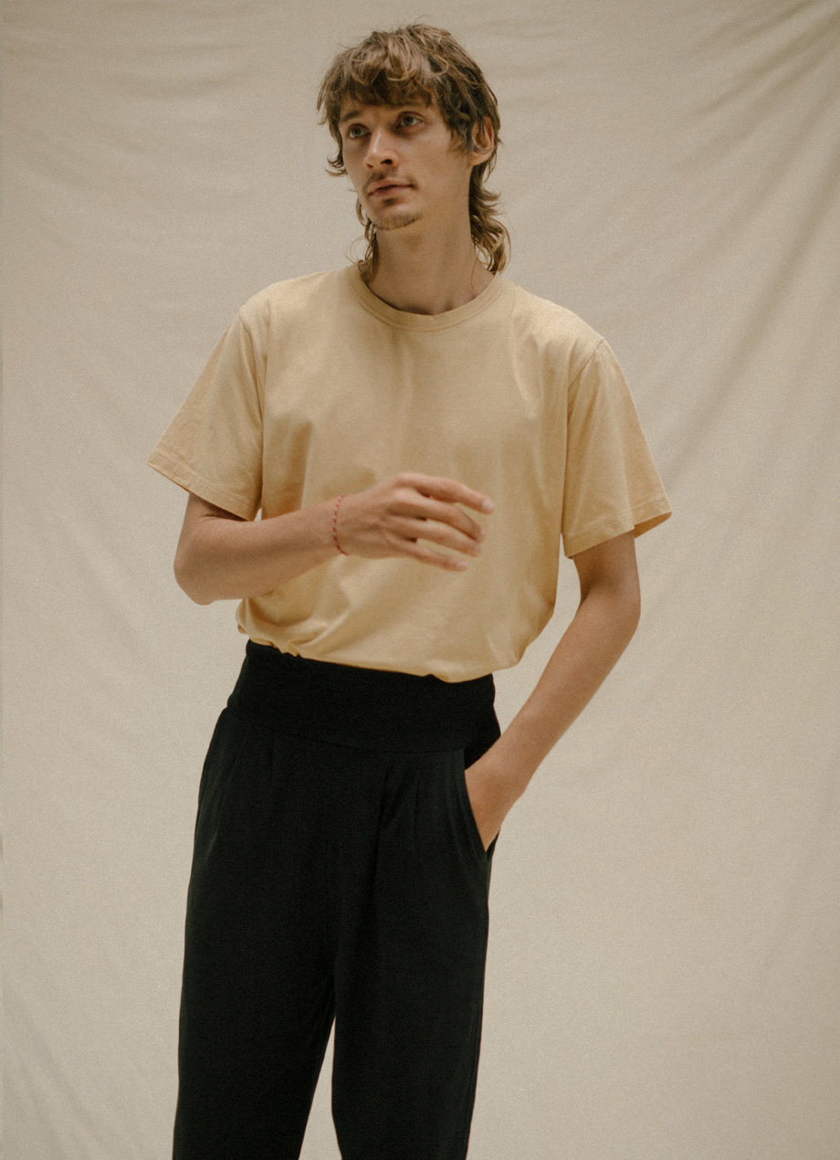 Natural plant-dye round sleeve - For Men ( 5월 RESTOCK )
